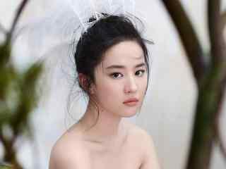 刘亦菲时尚芭莎仙气十足写真壁纸图片