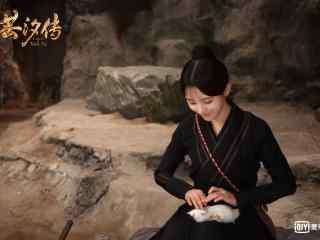 鞠婧祎撸兔子高清壁纸