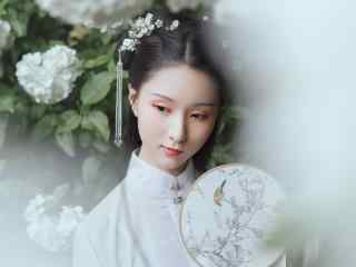 清纯古装美女淡雅写真高清壁纸