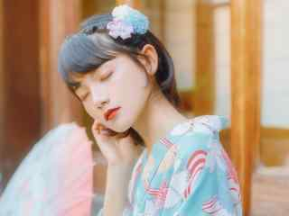 清纯日系和服美女高清壁纸