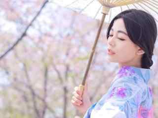 唯美日系和服美女高清壁纸
