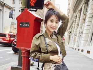 杨紫高清时尚街拍短发图片