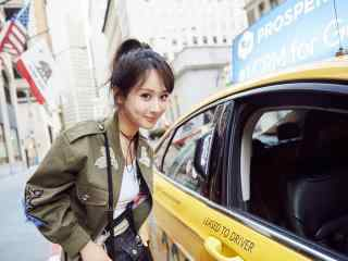 美女明星杨紫高清时尚街拍短发图片