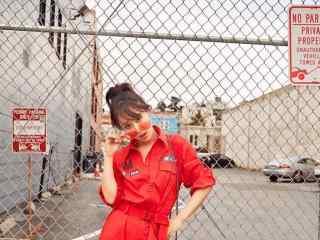 杨紫时尚帅气短发图片