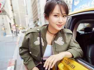 杨紫清新靓丽街拍短发图片