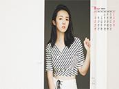 2018年8月日历壁纸素雅清纯美女写真壁纸