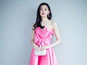 张天爱粉色低胸礼服性感桌面壁纸图片