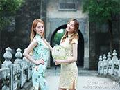 吴宣仪古装旗袍风高清壁纸
