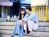 安悦溪《许你浮生若梦》与朱一龙在台阶上超清唯美剧照图片