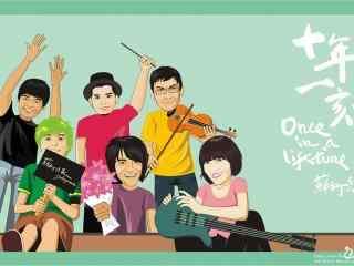 苏打绿乐队成员卡通形象可爱图片桌面壁纸