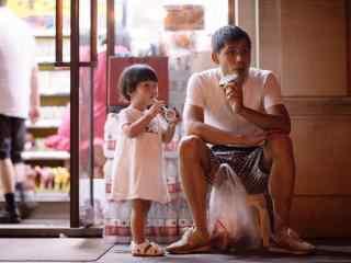 618父亲节之爸爸与孩子有爱摄影图片