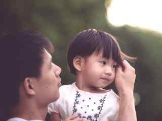 618父亲节之有爱的爸爸与孩子写真壁纸