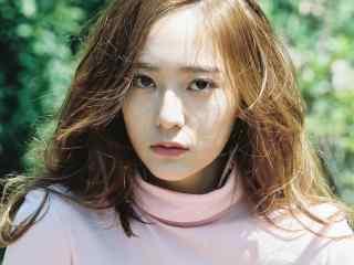 韩国女星郑秀晶时尚写真壁纸