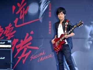 五月天怪兽电影宣传现场弹吉他壁纸