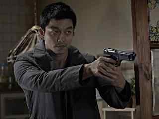 孔侑超帅气举枪嫌疑人剧照桌面壁纸