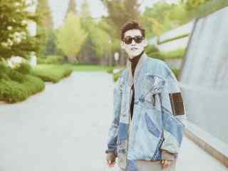 时尚街拍张翰英俊潇洒桌面壁纸