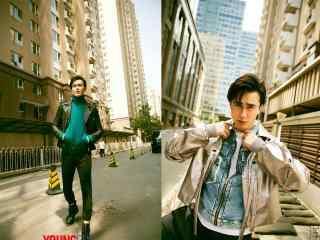 帅气型男高伟光时尚街拍桌面壁纸