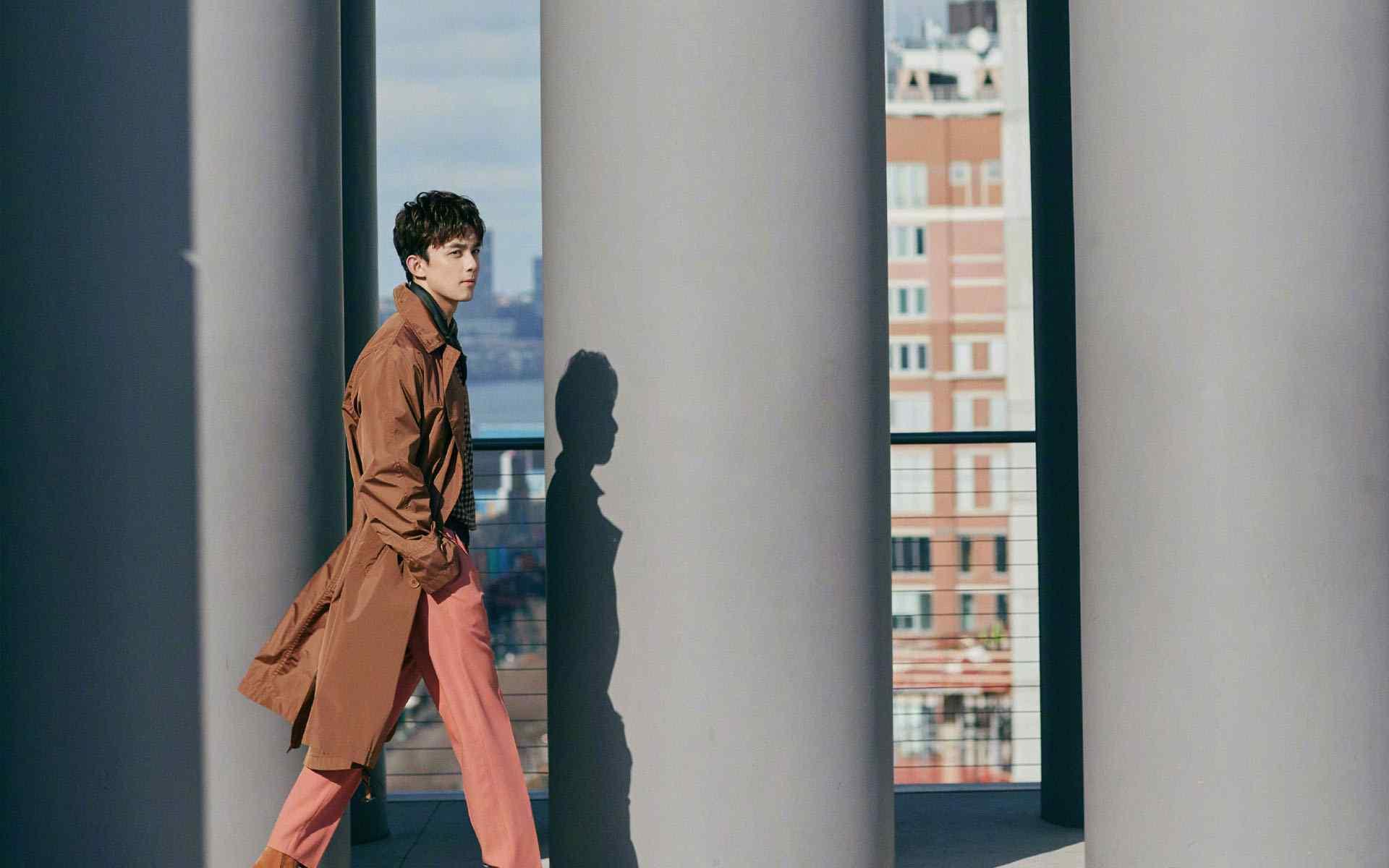 大长腿吴磊纽约街拍写真高清壁纸