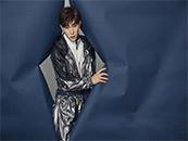 邓伦银色外衣高清唯美时尚写真壁纸图片