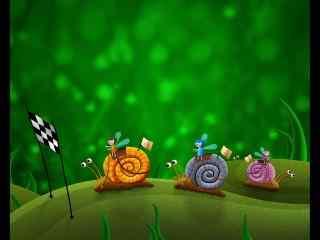 可爱卡通小蜗牛桌面壁纸