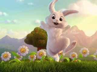活泼可爱卡通兔子