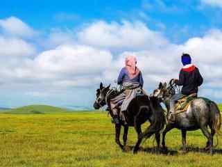 草原牧羊人图片壁纸