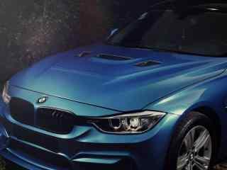 宝马F30蓝色车头