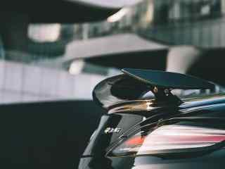 唯美黑色奔驰跑车