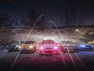 创意大众汽车摄影