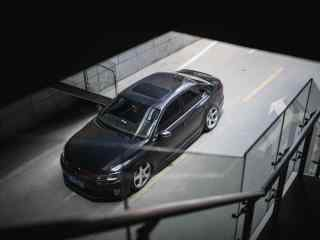 黑色大众汽车摄影