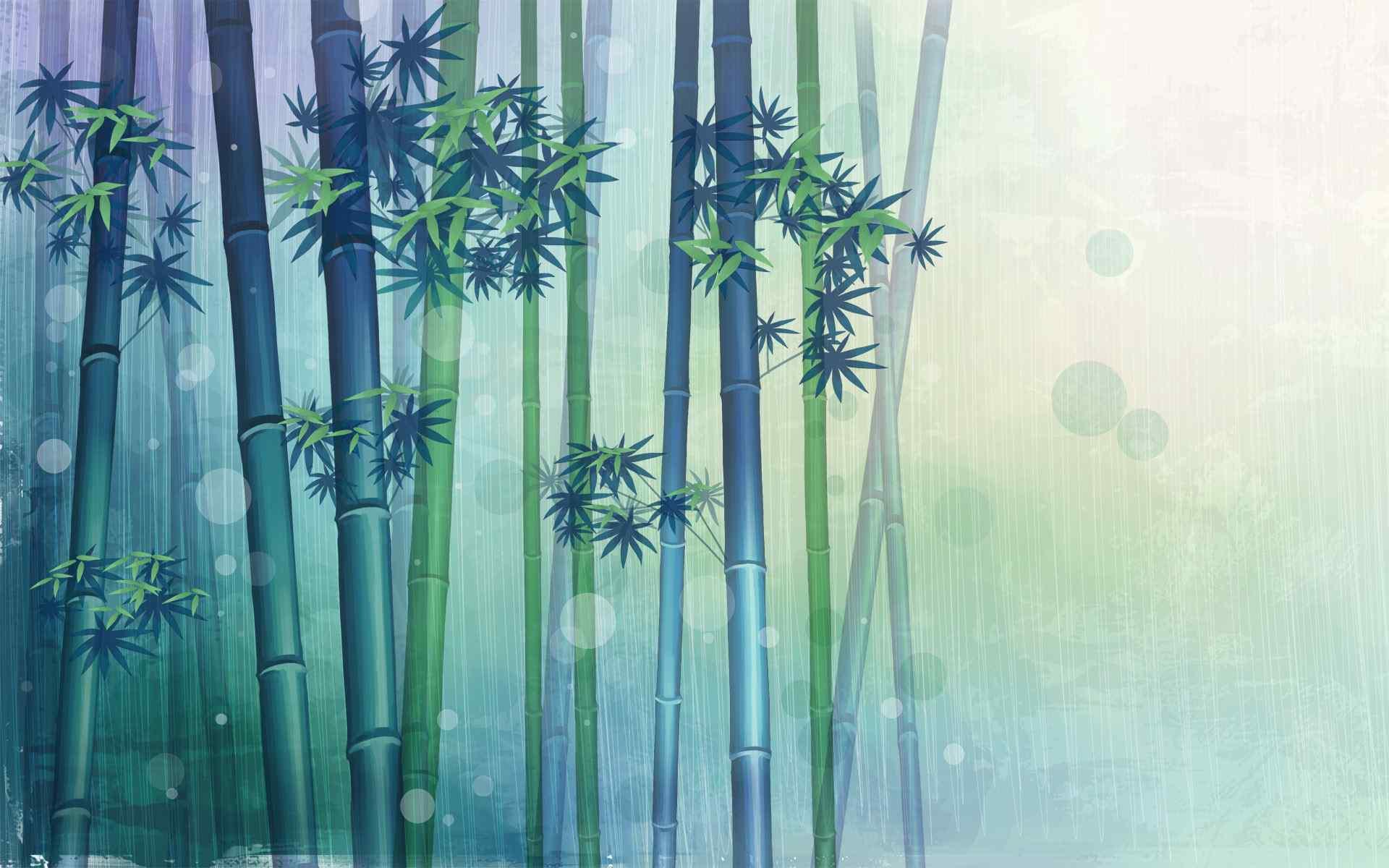 创意竹子炫彩桌面壁纸
