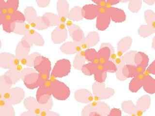 粉色小花平铺图片