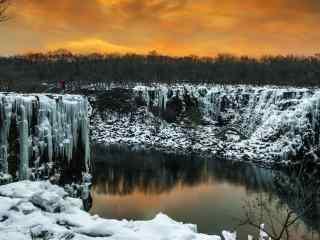 冬日黑龙江壮观景