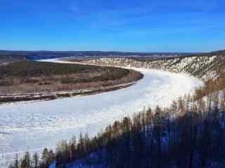 结冰的黑龙江壮观景色图片壁纸