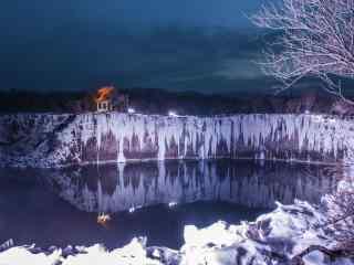 冬日结冰的黑龙江
