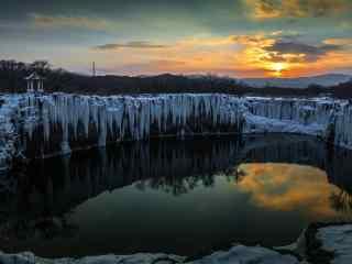 冬日黑龙江风景图