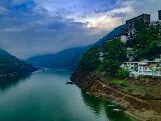 唯美的汉江美景风景图片