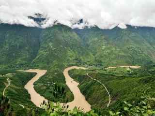 美丽的怒江风景图