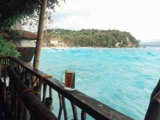 菲律宾长滩岛小清新海浪风景图片