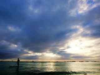 菲律宾长滩岛海上风光壁纸