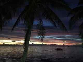 菲律宾长滩岛阴天风景壁纸