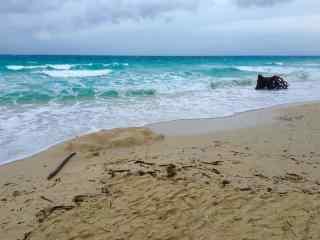 菲律宾长滩岛沙滩海浪风景图片