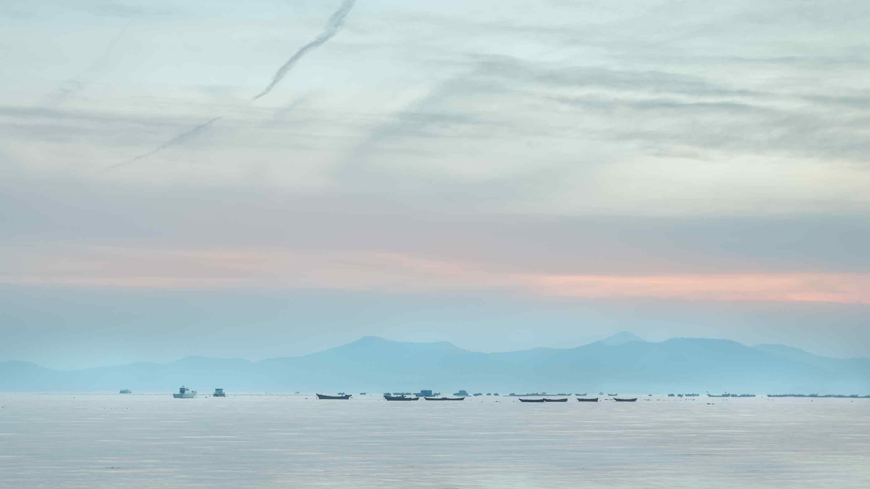 文艺唯美的大海与天空高清壁纸