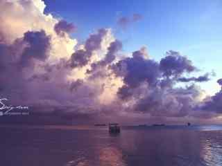 唯美大海上的天空桌面壁纸