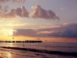唯美的大海与天空唯美高清桌面壁纸