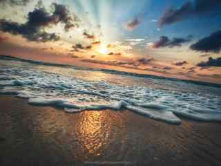 沙滩上的天空高清壁纸