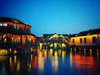 印象乌镇之绚烂夜景桌面壁纸
