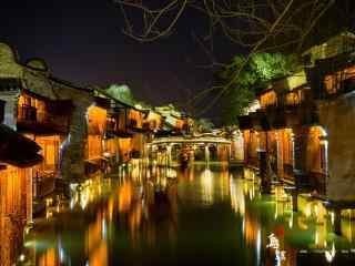 印象乌镇之绚烂夜景壁纸