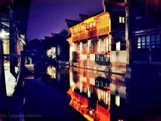 唯美的乌镇夜景图片壁纸