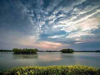 小清新巢湖风景桌面壁纸